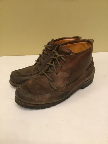 Vintage Timberland Size US 10 W Leather Gore Tex Chukka Casual Boots 55046 $39.95