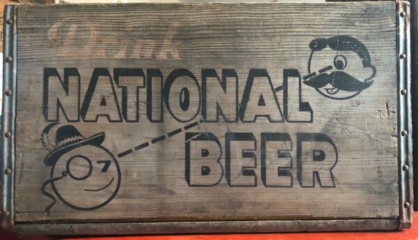 Vintage Antique Wooden National Beer Crate Natty Boh 4439 REDUCED