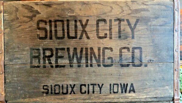 Vintage Antique Wooden Sioux City Beer Crate 4472 REDUCED