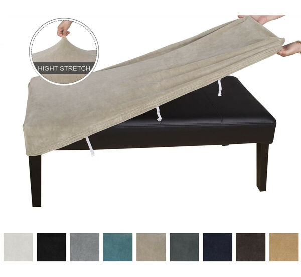 Stretch Spandex Bench Slipcover for Dining Room Soft Bench Covers Protector $9.99