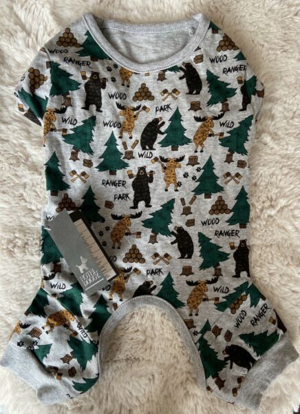 NWT Adorable HOTEL DOGGY quot;Forest Friendsquot; JUMPSUIT PAJAMAS Puppy Dog Medium $21.99