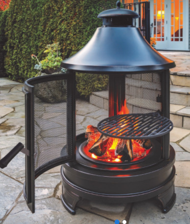 Outdoor Cooking Pit Cast Iron Grill