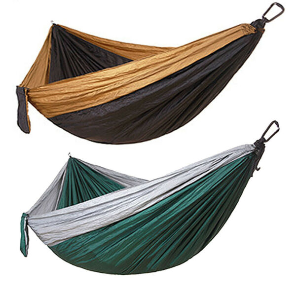 Double Outdoor Hammock Swing Bed Portable Parachute Nylon Fabric Camping Travel $12.99