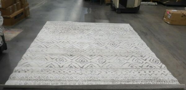 IVORY GREY 9#x27; X 9#x27; Square Back Stain Rug Reduced Price 1172619035 TUL267A 9SQ