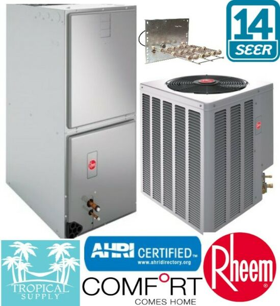 3 Ton Rheem Select Heat Pump System Air Handler amp; Condenser With Heat Strip $2450.00