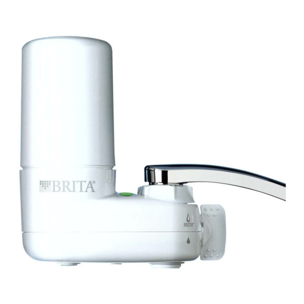 Brita Basic Faucet Water Filter System White 1 Count