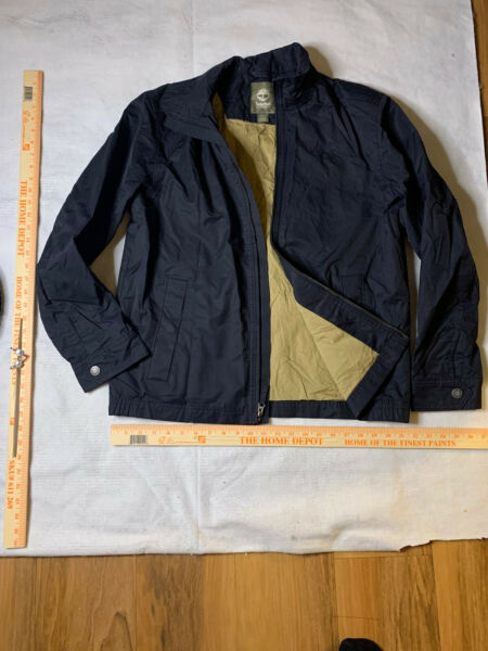 Timberland Waterproof Black Blue Jacket Mens Size Medium $24.99
