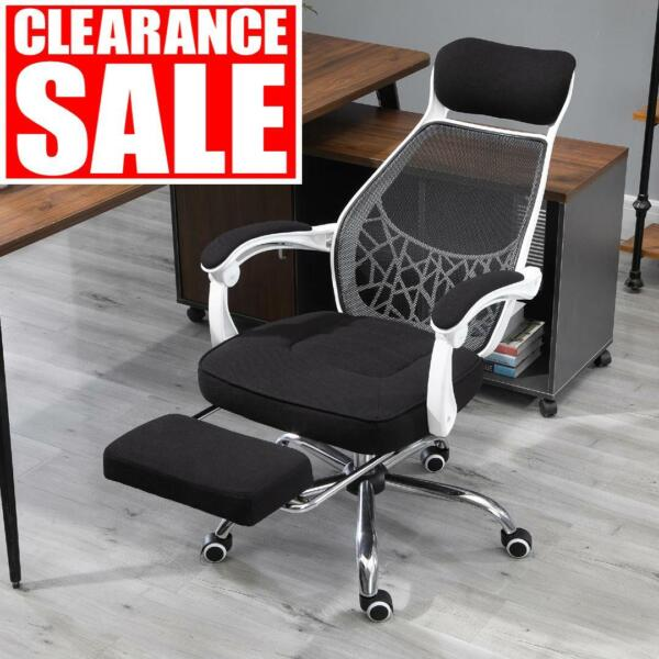 Vinsetto High Back Computer Adjustable Height Recliner Office Chair W Footrest