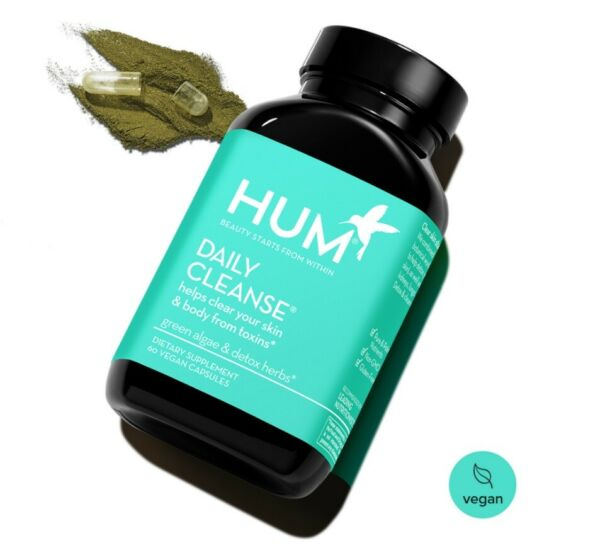 HUM Nutrition Daily Cleanse Helps cleanse skin body 60 Vegan Capsules $11.00