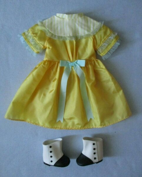 "American Girl Cecile Yellow Summer Dress Boots for 18"" Doll"