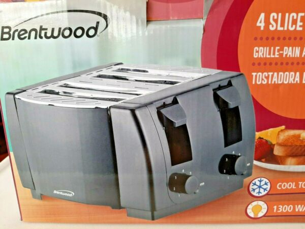 BRENTWOOD APPLIANCES TS 285 Brentwood Appliances Cool Touch 4 Slice Toaster NEW