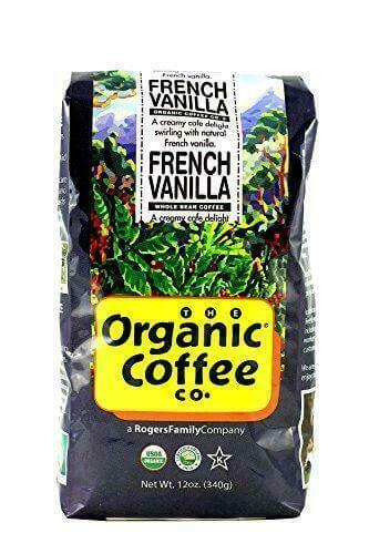 The Organic Coffee Co. French Vanilla Whole Bean 12 Ounce 3 Pack Flavored