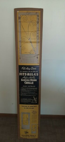 New Old Stock Vintage Screen Door GRILLE No. 5 Guard Grill Protector