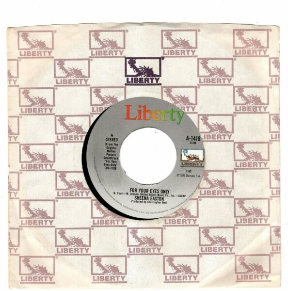 Sheena Easton For Your Eyes Only VG $5.00