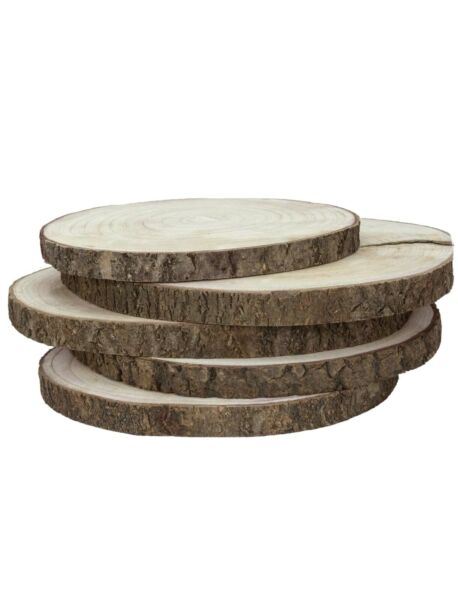 Large Wood Slices for Centerpieces 5 Pack