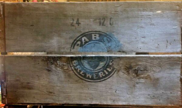 Vintage Antique Wooden Pabst Beer Crate 4460 REDUCED