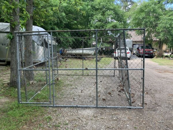 10#x27; x 10' X 6' Heavy Duty Steel Outdoor Chain Link Dog Kennel Enclosure Pet Gate
