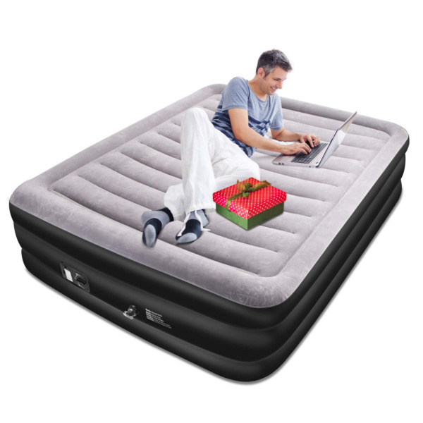 Queen Size Air Mattress with Built in Electric Pump and Storage Bag High 20in