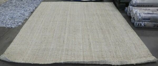 IVORY 9#x27; X 9#x27; Square Loose Threads Rug Reduced Price 1172620689 NF730A 9SQ