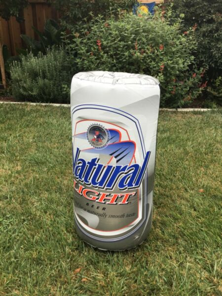 Natural Light Ice Inflatable Anheuser Busch Beer Can Double Sided3ft.Tall NEW