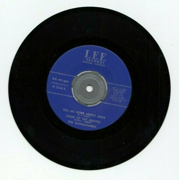 Harmonaries Win The Lost At Any Cost 3 More Songs 45RPM Lee Records $14.36