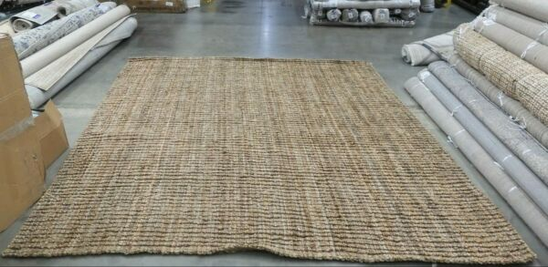 NATURAL 9#x27; X 9#x27; Square Loose Threads Rug Reduced Price 1172622045 NF447A 9SQ