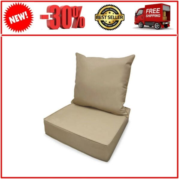 Linen Deep Seat Outdoor Cushion Set $150.00