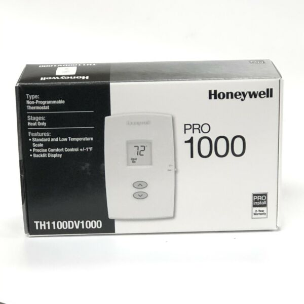 Honeywell PRO 1000 Non Programmable Thermostat New TH1100DV1000 Heat Only $29.99
