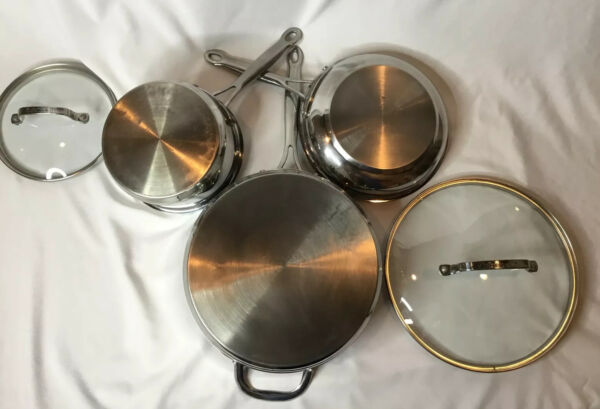 Cuisinart Stainless Steel Cookware 5 Piece Set Pre Owned Pots amp; Pans
