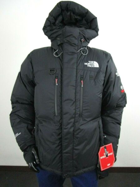 Mens The North Face Himalayan Summit Down Hooded Insulated Winter Parka Black $552.46