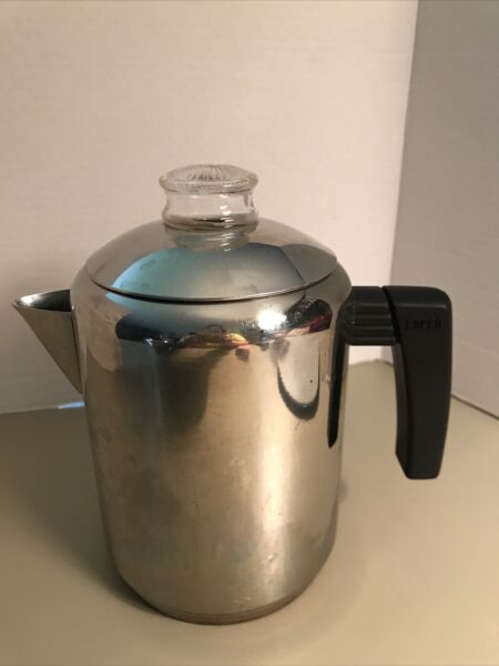 Vtg Copco 8 Cup Stove Top Camping Stainless Steel Coffee Percolator Pot Thailand