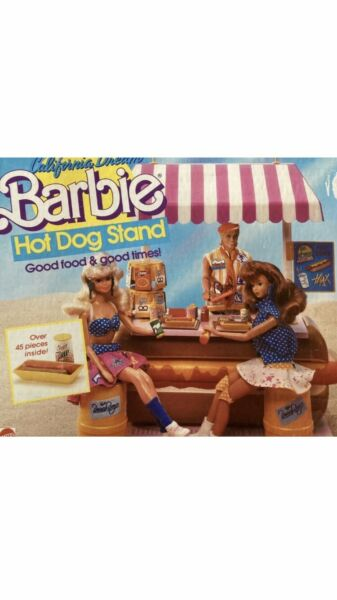 Barbie California Hot Dog Stand 1987 4463 Vintage RARE Collector N5 $119.00