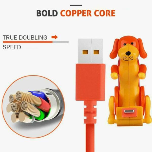1.2 M Type c Micro USB smartphone Humping Funny Dog Fast charger cable $6.45