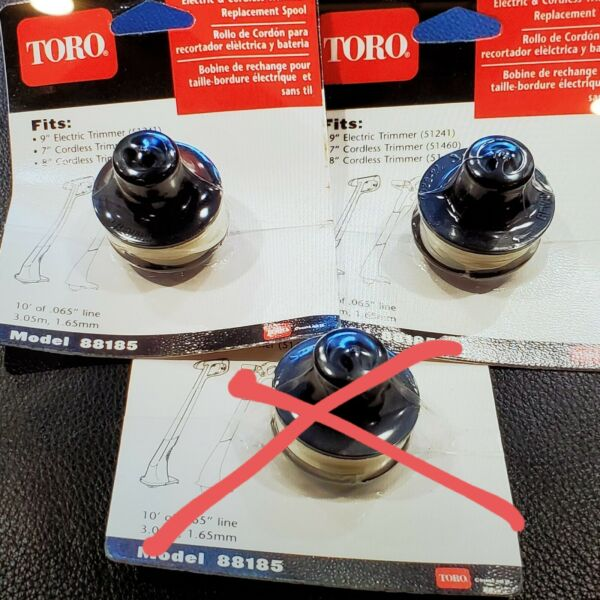 2x TORO MODEL 88185 * OEM Replacement Trimmer Spools NOS new old stock sealed