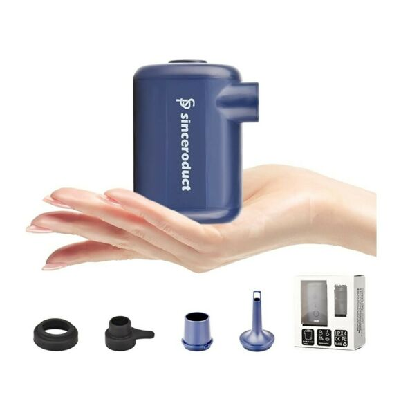 Portable Electric Air Pump for Inflatables Quick Fill Air Pump Battery Powered $22.99