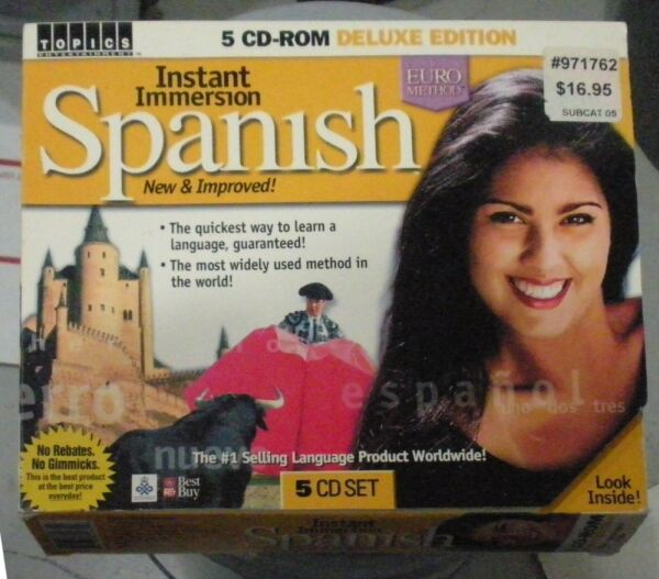 quot;Instant Immersion Spanishquot; 2002 5 CDs for PC Beginner to Intermediate $6.99