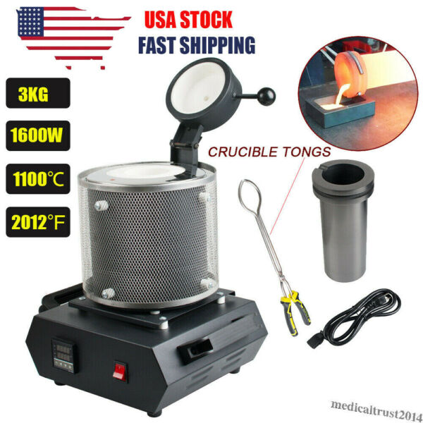 3KG Automatic Electric Melting Furnace Machine Gold Sliver Jewelry Smelting Tool $239.00
