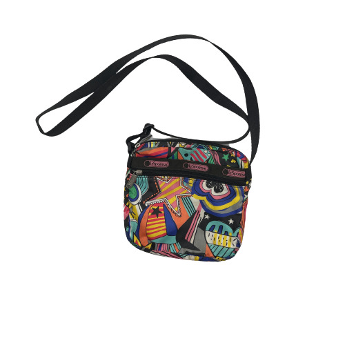 Le Sportsac Crossbody Small Bag Blue Orange $19.99