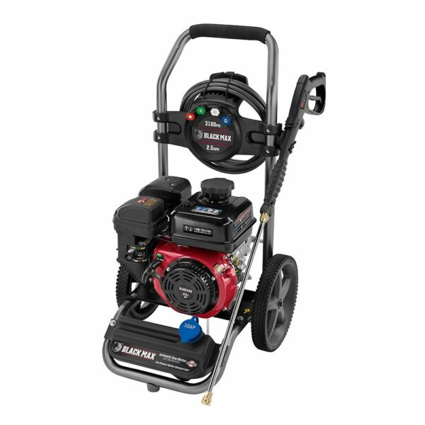 Black Max 3100 PSI Gas Pressure Washer 212cc OHV Engine $197.99