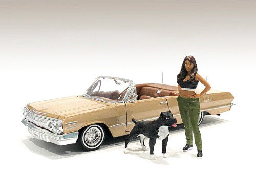 quot;LOWRIDERZquot; FIGURINE IV amp; A DOG FOR 1 18 SCALE MODELS BY AMERICAN DIORAMA 76276 $13.99