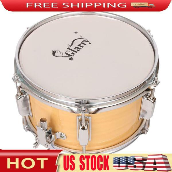 10x6 inch Snare Drum Poplar Wood Drum Percussion Set Wood Color Musical