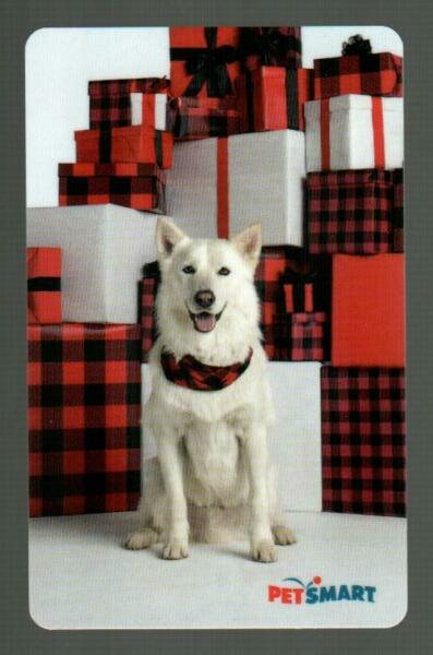 PETSMART Dog with Holiday Gifts 2020 Gift Card $0 $2.50