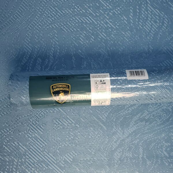 Modern Textured Blue metallic faux rusted industrial carbon plain Wallpaper roll $119.00