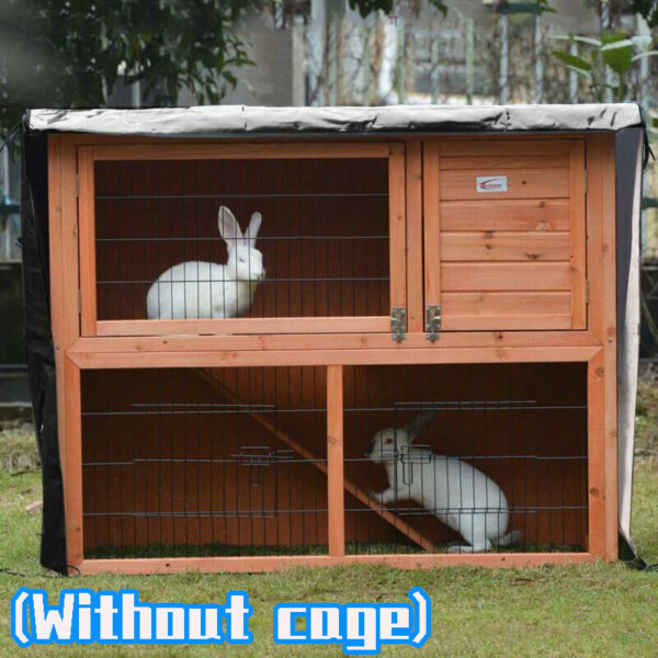 Bunny Rabbit Cage Ferret Chicken Coop Pet Hutch House Enclosure with Cover Roof