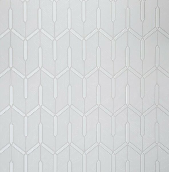 Off white cream pearl metallic faux carbon textured Wallpaper Geometric lines 3D $3.50