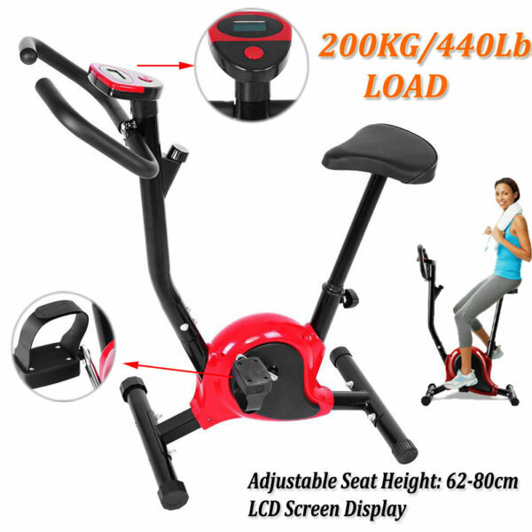 Exercise Bike Stationary Bicycle Cycling Fitness Gym Cardio Workout Indoor LCD $90.49