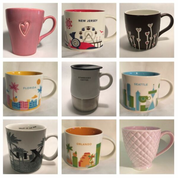 Starbucks Mugs You Are There City Icon And Others *Your Choice* NEW MUGS ADDED