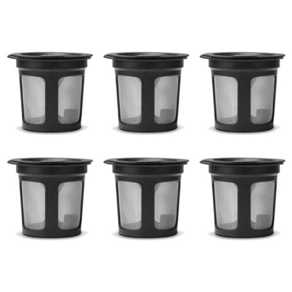 3pcs Black Refillable Reusable Single K Cups Filter Pod for Keurig Coffee Makers