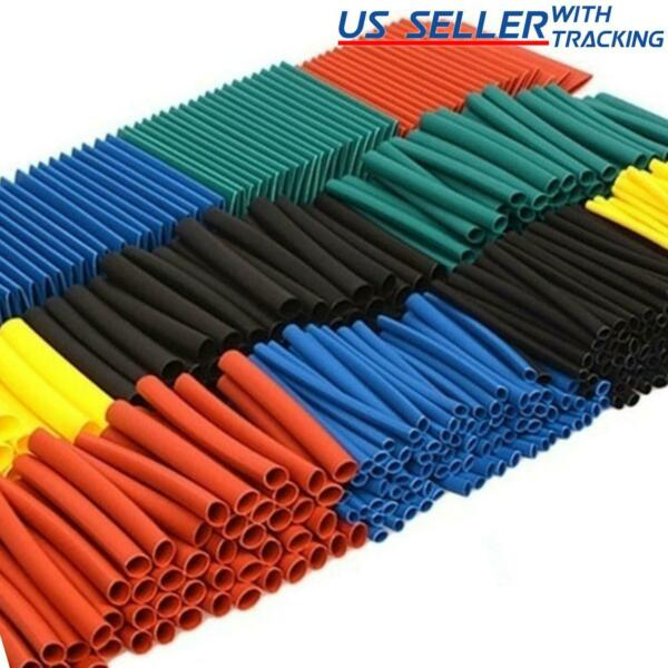 530pcs Multicolor 45mm Heat Shrink Tubing Electrical Wire Insulation Sleeve Kit $7.90