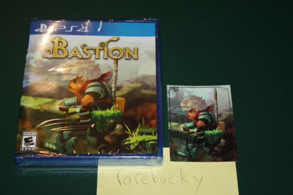 Bastion Playstation 4 PS4 NEW SEALED W CARD MINT LIMITED RUN GAMES #174 $59.99